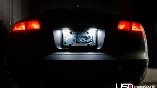 audi b6 b7 a4 s4 license plate led installation guide by usp motorsports