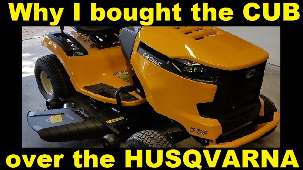 Why I bought the Cub Cadet over the Husqvarna