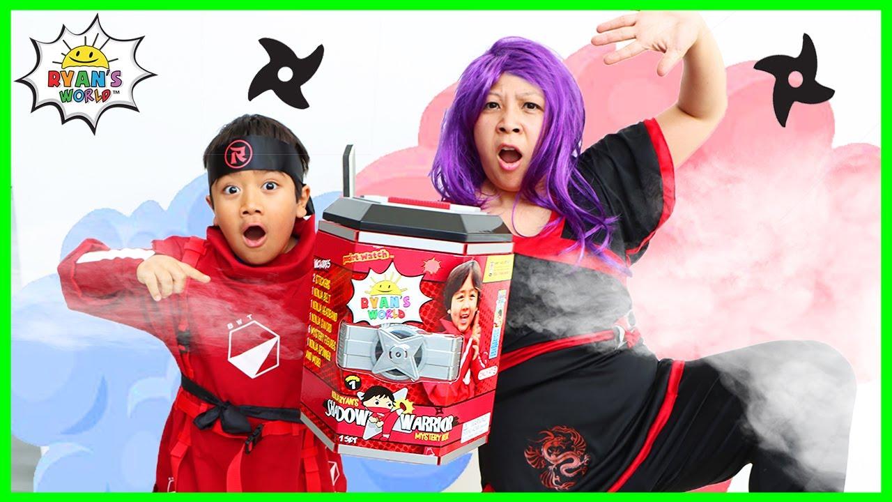 Ninja Ryan vs Dragon Ninja Mommy Challenge for the Shadow Warrior Mystery Box!!!