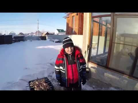 Зимние приколы шашлык на природе