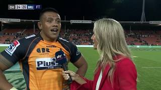 | SuperSport | Super Rugby | Chiefs v Brumbies | Post-match interview with Allan Alaalatoa