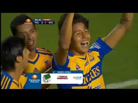 Gol de Hugo Ayala, Tigres 2 - 1 Atlante / Jornada 2 / 28 de Julio de 2012