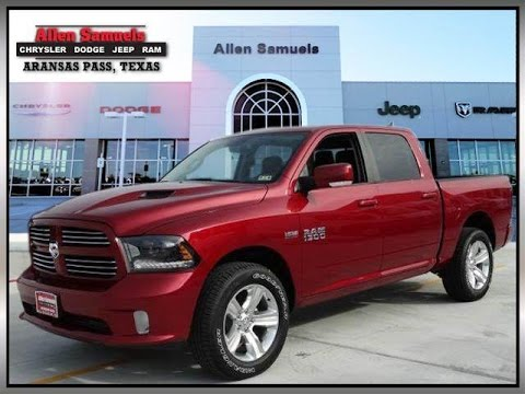 2015 ram 1500 4wd crew cab sport dodge ram dealer near corpus christi tx youtube. Black Bedroom Furniture Sets. Home Design Ideas