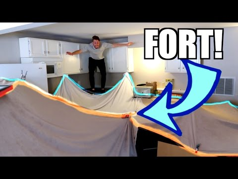 MASSIVE BASEMENT FORT!