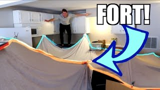 fan powered inflatable fort