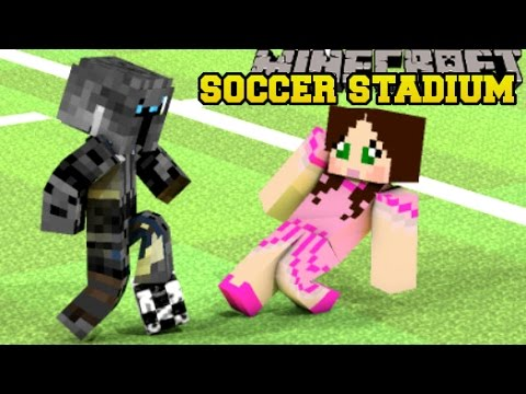 Minecraft: LOST IN A SOCCER STADIUM! - HIDDEN BUTTONS 5 - Custom Map