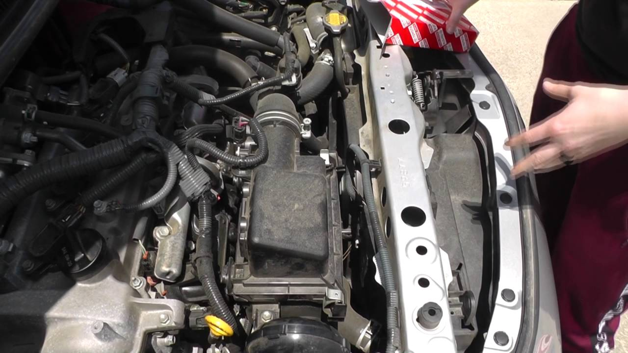 2012 toyota prius c engine air filter replacement [ 1280 x 720 Pixel ]