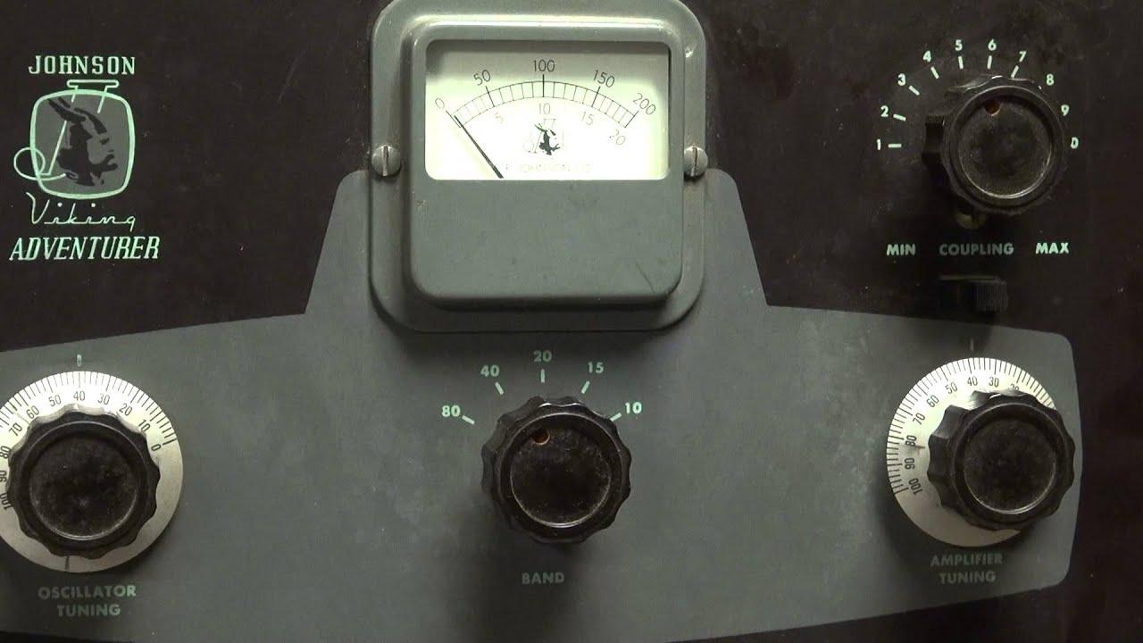 EF Johnson Adventurer 807 Tube Ham Radio Transmitter CW Novice QRP