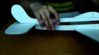 Как сделать планер из потолочной плитки на резиномоторе
