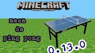 Minecraft pe. Como fazer uma mesa de ping pong