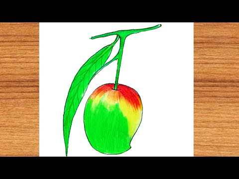 how to draw a mango 2021 ||Drawing Ideas|| Only Drawing