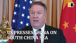US presses China to halt militarisation of South China Sea