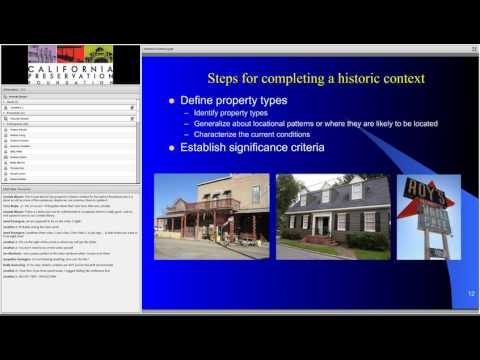 Historic Contexts: Purpose, Importance, and Process
