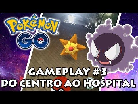 Pokémon GO Gameplay #3 - Capturando no Centro do Rio, hospital, entrando no time e batalhando
