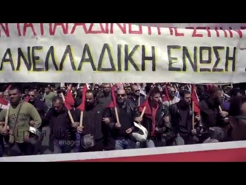 Greece: Thousands protest further austerity in Athens during 3day strike
