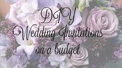 DIY Wedding Invitations on a budget