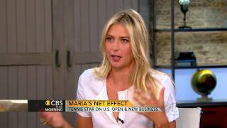 Sharapova on the U.S. Open, her engagement and candy