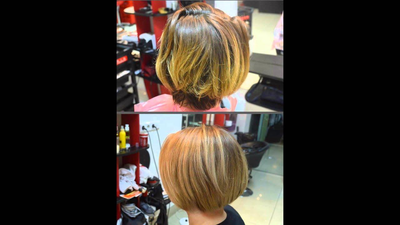 Балаяж омбре шатуш на короткие волосы фото