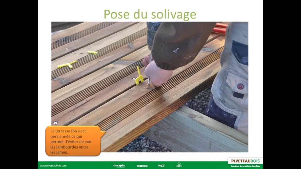 comment poser sa terrasse bois sur plots piveteaubois youtube. Black Bedroom Furniture Sets. Home Design Ideas