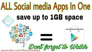All social media app in one app- save up to 1GB