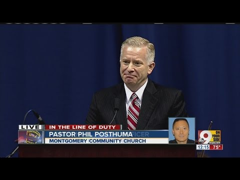 Cincinnati Police Officer Sonny Kim Funeral_Kim's pastor, Phil Posthuma