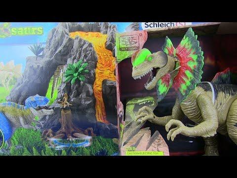 Dinosaurs  Jurassic World CRETACEOUS & Schleich Dinosaurs Volcano T-Rex 42305 - Toys for kids