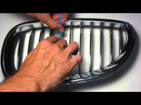 BMW Kidney Stripes Decal Installation Tutorial Nickos Graffix - Bmw grille stripe decals