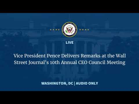 NEWS ALERT TODAY - VP Pence Speaks To Wall Street CEOs - Full Event (Audio Only)