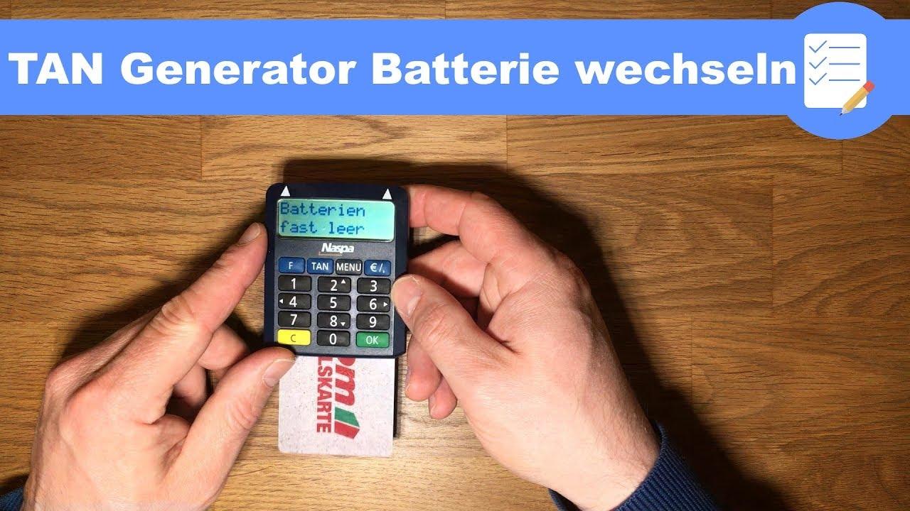 Online Banking Tan Generator Batterie Wechseln Sparkasse Kobil Anleitung Deutsch Youtube