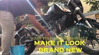 How To Wash Your Motorcycle | Ktm Duke 200 | 2018
