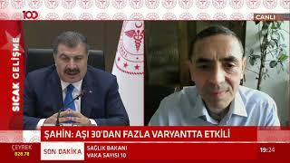 Bakan Fahrettin Koca'dan çok önemli açıklamalar! Prof. Uğur Şahin telefon bağlantısıyla bağlandı