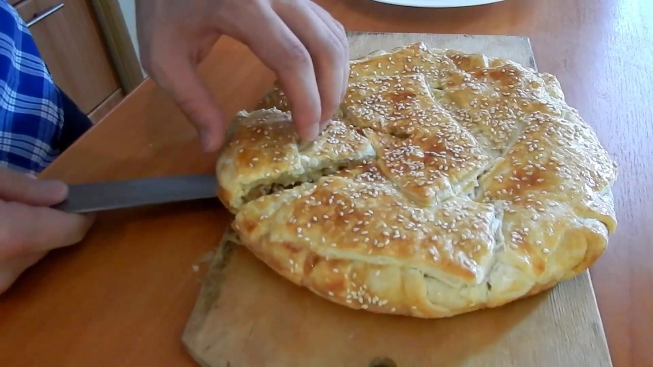 Креатопита. Греческий мясной пирог. Средиземноморская кухня.