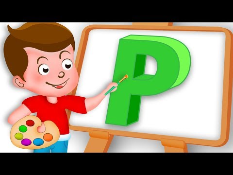 Drawing Alphabet P Letter coloring painting for kids Kids Drawing TV