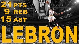 Repeat youtube video LeBron Puts Up 21/9/15 in Win Over PHX   01.19.17