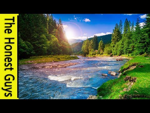 12 HOURS NATURE SOUNDS: River in The Valley (NO MUSIC) Sleep, relaxation, Study