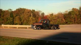 tar top 1950 gmc slammed air ride patina hot rat street rod pickup for sale on ebay now