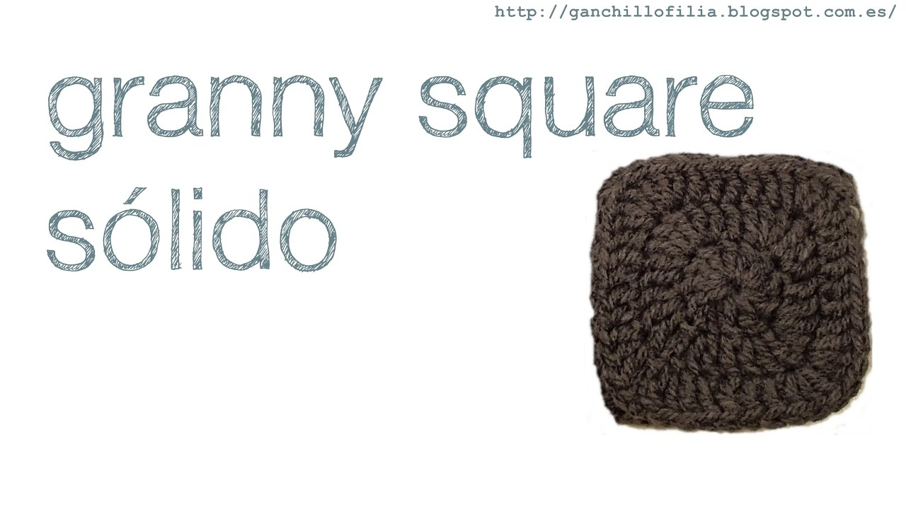 Granny square solido - YouTube