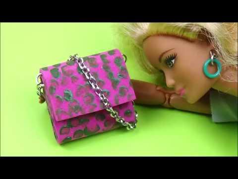 Trendy purse for doll │ Barbie bag diy │ Easy doll purse diy │ Purse for doll tutorial