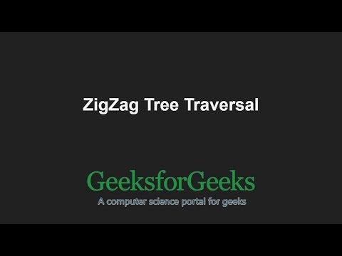 ZigZag Tree Traversal | GeeksforGeeks