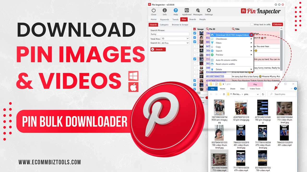How to download Videos & Images from Pinterest with Pin Inspector Media  Downloader Tools