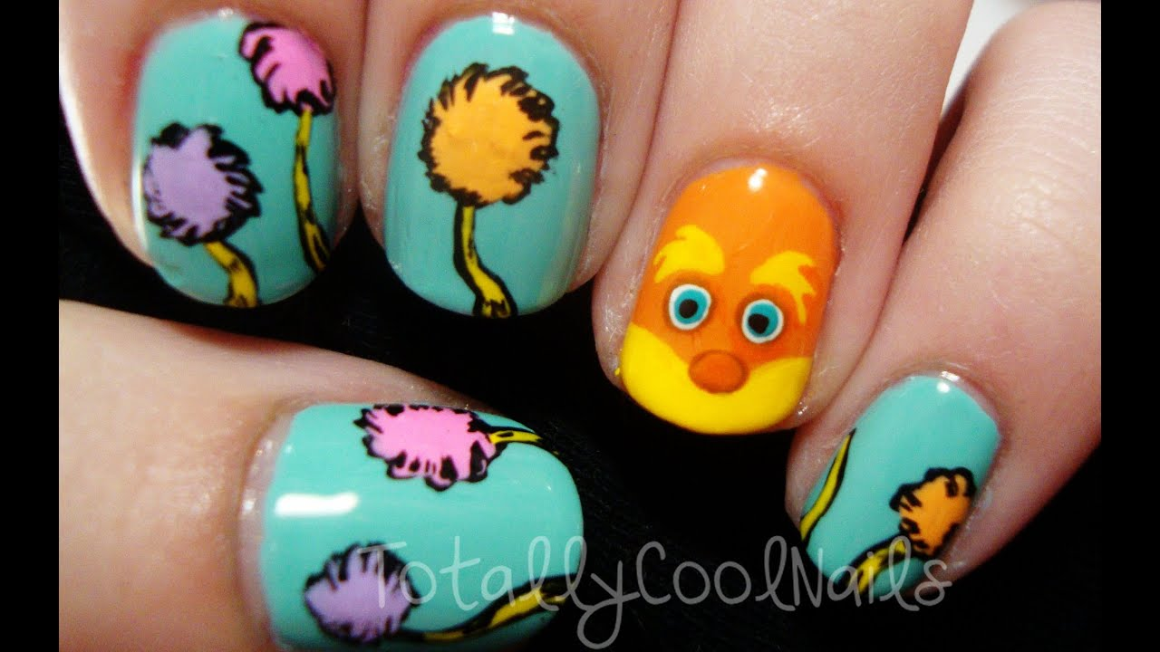 Dr. Seuss' The Lorax Nails - YouTube
