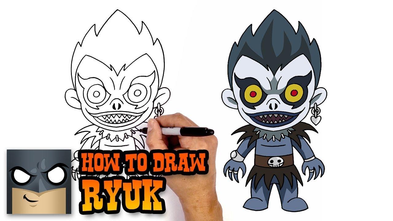 How To Draw Ryuk Deathnote Art Tutorial
