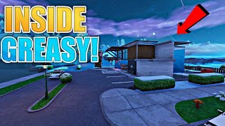 GET INSIDE FROZEN GREASY GROVE by doing this glitch in Fortnite glitch - PS4/xbox one/Pc