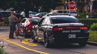Mustang SENDS IT for the Boys and gets ARRESTED! - Houston Coffee and Cars June 2018