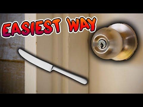 *EASY WAY* HOW TO UNLOCK ANY DOOR USING A BUTTERKNIFE!