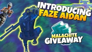 Introducing FaZe Aidan (HUGE Malachite GIVEAWAY) | Fortnite Save The World