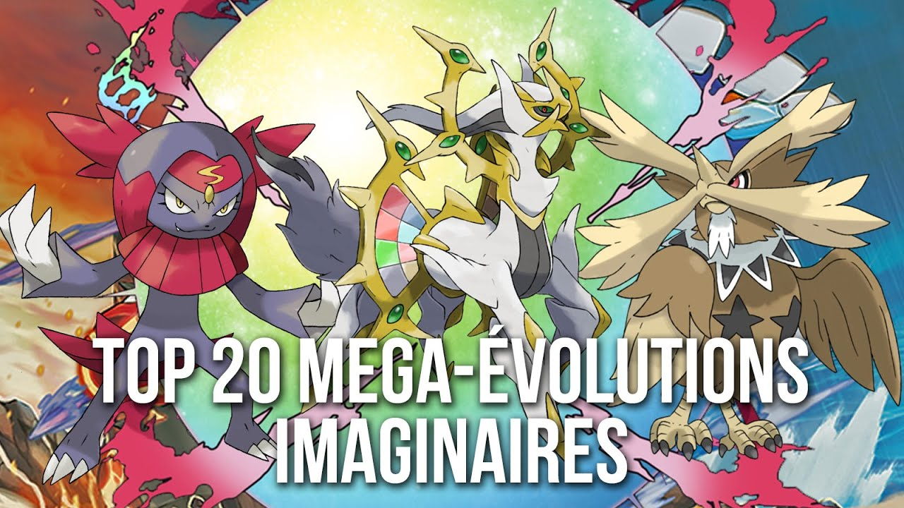 20 nouvelles mega volutions pokemon par les fans youtube - Evolution pokemon legendaire ...
