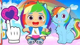 BEBES ALEX Y LILY 💥 Lily se disfraza de Rainbow Dash de My Little Pony | Dibujos animados niños