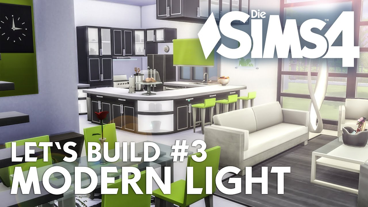die sims 4 let 39 s build modern light 3 haus bauen k che wohnzimmer deutsch youtube. Black Bedroom Furniture Sets. Home Design Ideas