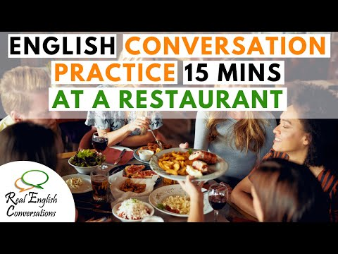 English Conversation about Restaurants | Learn Conversational English | Real English Conversations |